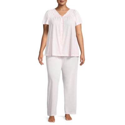 Collette By Miss Elaine 2-pc Pajama Set-Plus