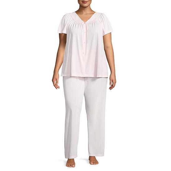 Collette By Miss Elaine 2-pc Pajama Set-Plus