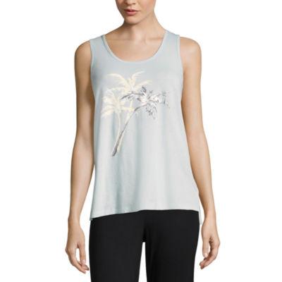 Ambrielle Sleeveless Pattern Pajama Top
