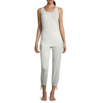 Ambrielle Ruched Detail Capri Pajama Set