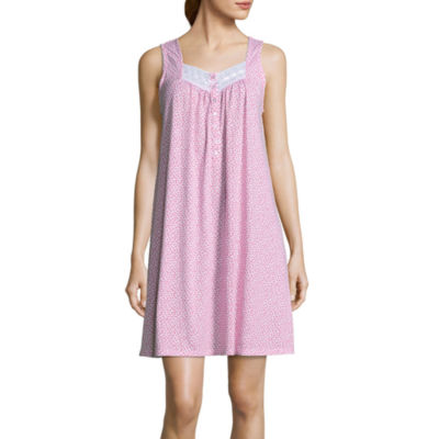 Adonna Jersey Sleeveless Floral Nightgown