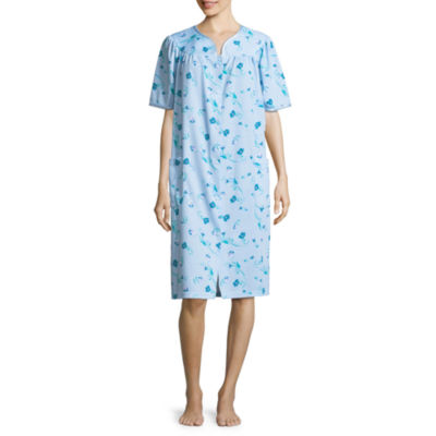 Adonna Knit Short Sleeve Floral Nightgown