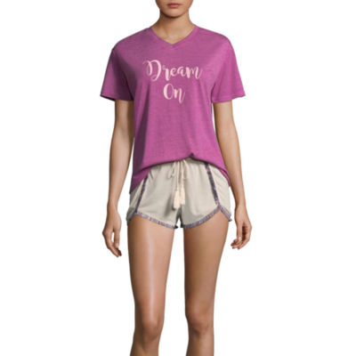 Wallflower Fringe Trim Short Pajama Set