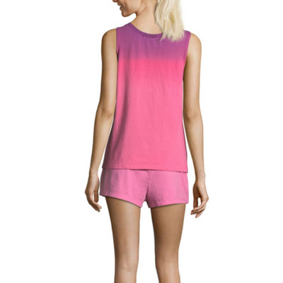 Peace Love And Dreams Peace Love & Dreams Womens-Juniors Shorts Pajama Set Sleeveless