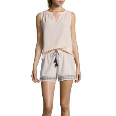 Liz Claiborne Tassel Shorts Pajama Set