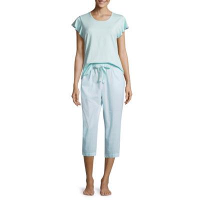 Liz Claiborne Ruffle Sleeve Capri Pajama Set