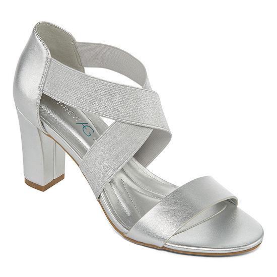 Andrew Geller Womens Queena Heeled Sandals