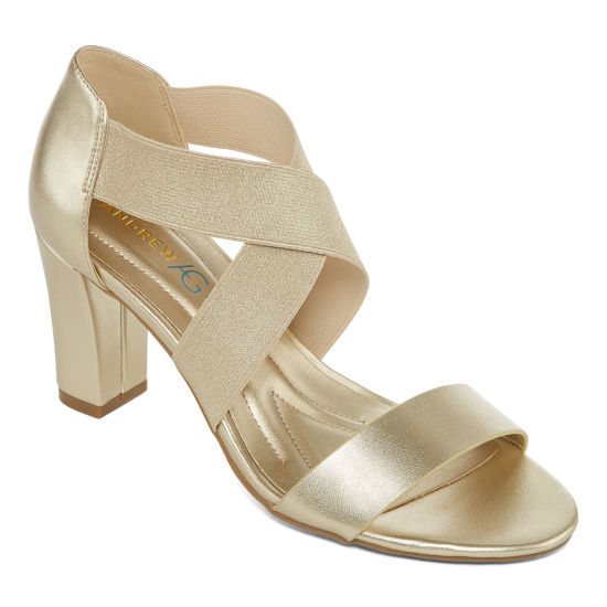 Andrew Geller Womens Queena Heeled Sandals