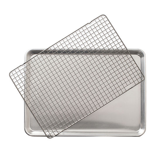 Nordicware® 2-pc. Naturals Half Sheet with Oven-Safe Nonstick Grid Bakeware Set