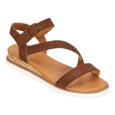 a.n.a Womens University Ankle Strap Flat Sandals