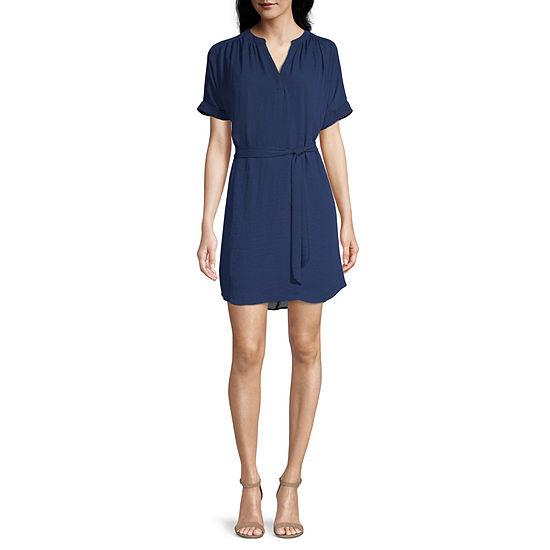 Worthington Short Sleeve Shirt Dress