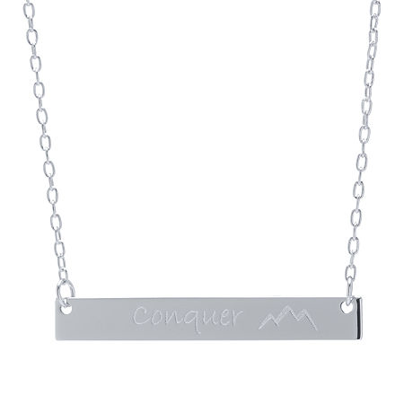 Silver Treasures Sterling Silver 16 Inch Cable Pendant Necklace, One Size , No Color Family - 05816970018