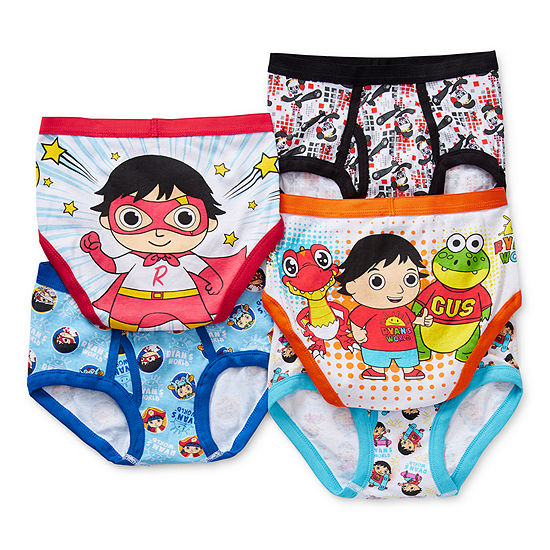 Little Boys 5 Pack Briefs