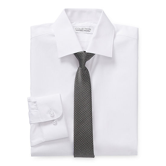 Collection By Michael Strahan Boys Spread Collar Long Sleeve Shirt + Tie Set