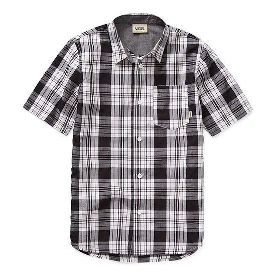 Vans Little Kid / Big Kid Boys Short Sleeve Button-Front Shirt