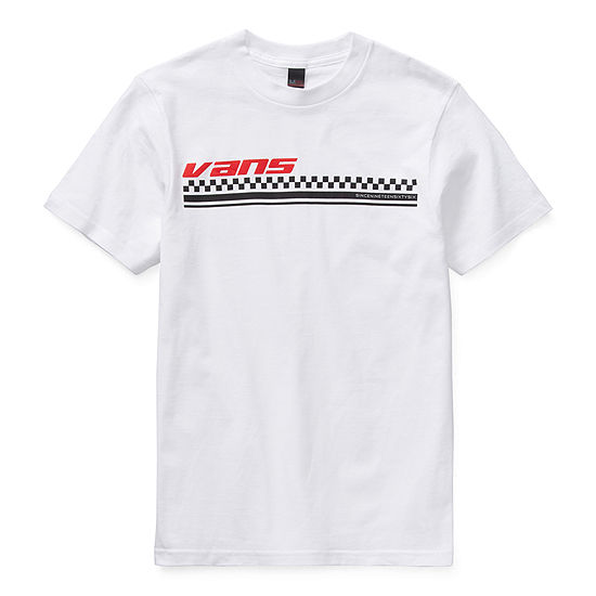 Vans Boys Crew Neck Short Sleeve Graphic T-Shirt