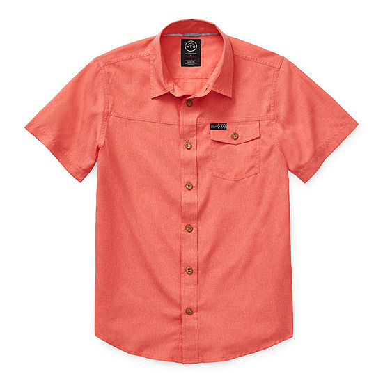 Wrangler Big Kid Boys Short Sleeve Button-Front Shirt