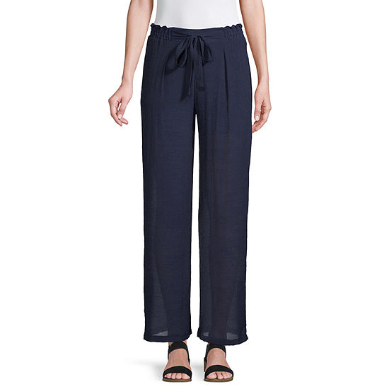 Byer California-Juniors Womens Mid Rise Straight Pull-On Pants