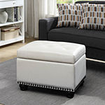 Designs4comfort 5th Avenue Tufted Storage Ottoman