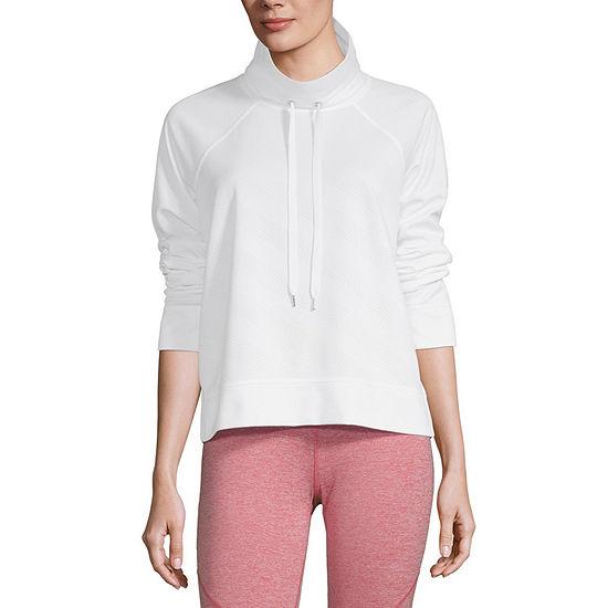 Xersion Womens Funnel Neck Long Sleeve Sweatshirt