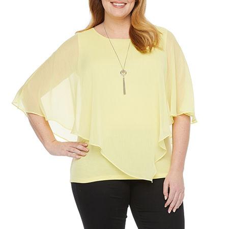 Alyx Womens Necklace Popover - Plus, 1x , Yellow