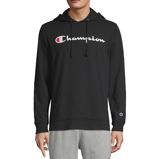 Champion Midweight Jersey Mens Hooded Neck Long Sleeve Hoodie