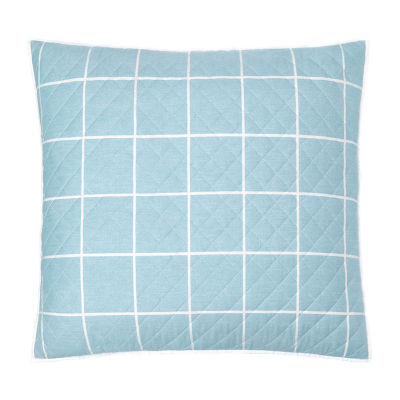 Fieldcrest Windowpane Reversible Euro Sham