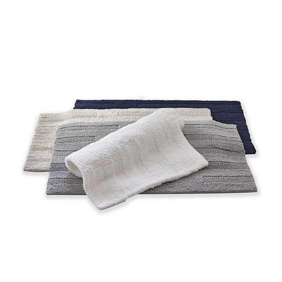 Loom + Forge Modern Turkish Solid Reversible Bath Rug