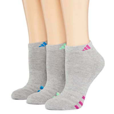 adidas® 3-pk. Cushioned Heathered Low-Cut Socks