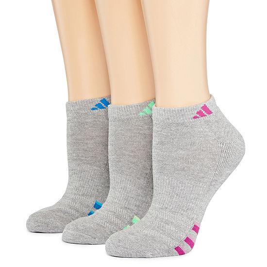 adidas® 3-pk. Cushioned Heathered Low-Cut Socks
