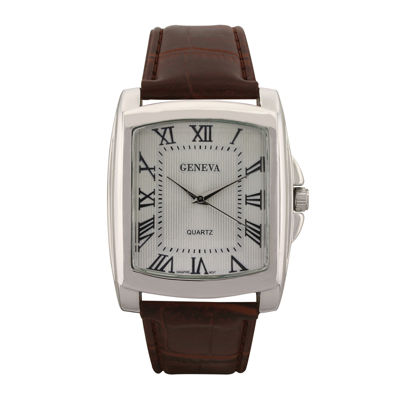 Geneva Mens Multicolor Strap Watch-33310