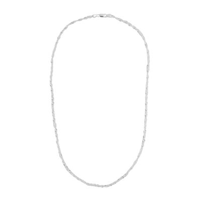 """Silver Reflections™ 18"""" Singapore Chain Necklace"""
