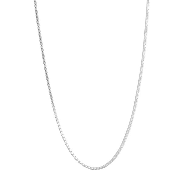 "Silver Reflections™ 18"" Box Chain Necklace"