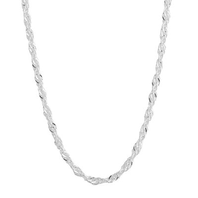 "Silver Reflections™ 24"" Singapore Chain Necklace"