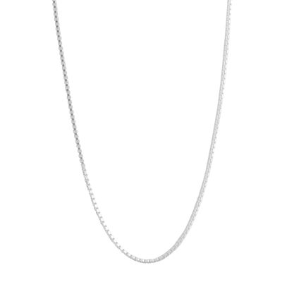 "Silver Reflections™ 30"" Box Chain Necklace"