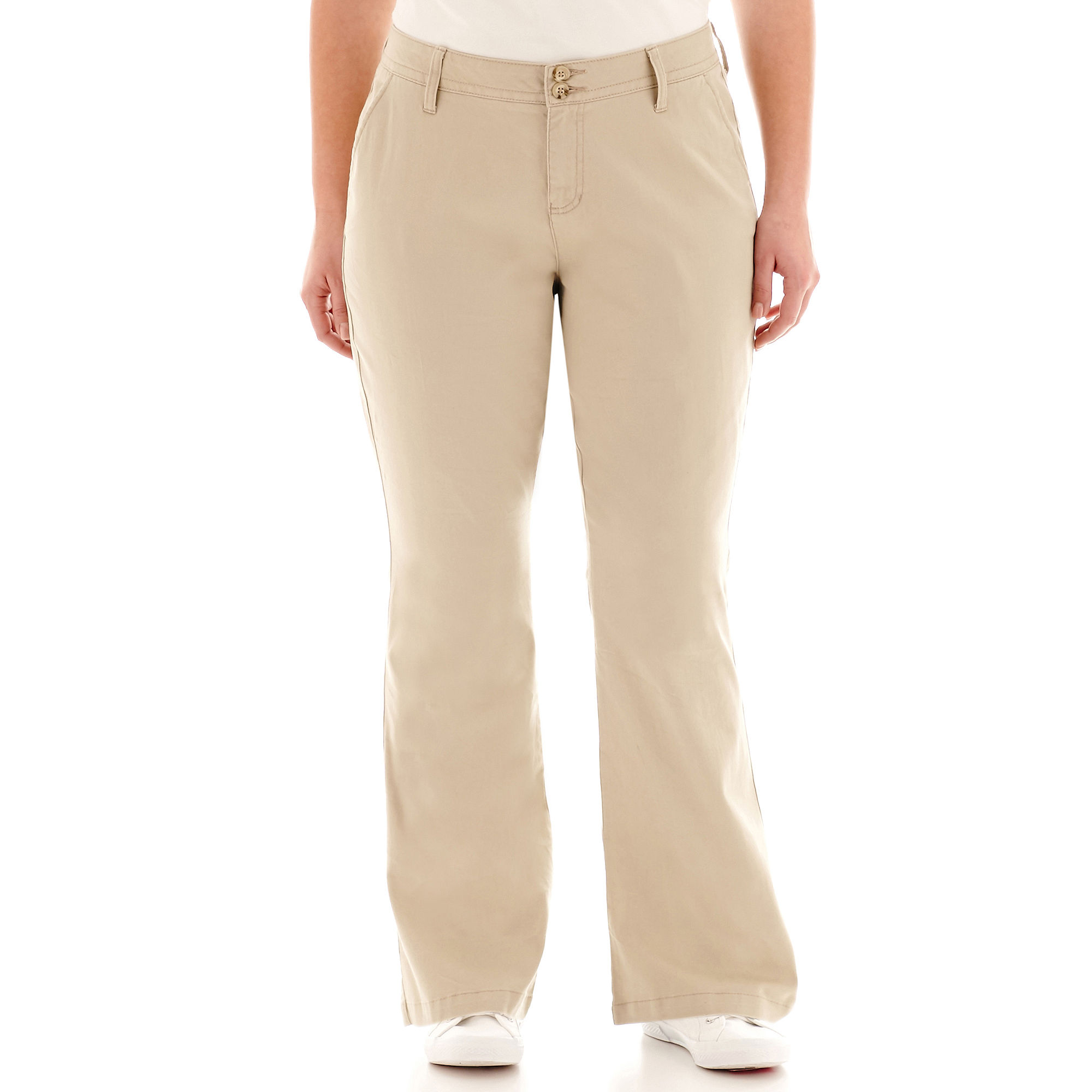 Arizona Schoolgirl Bootcut Pants-Juniors Plus plus size,  plus size fashion plus size appare