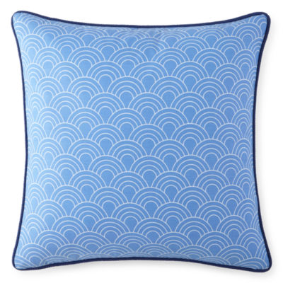 "Happy Chic by Jonathan Adler Zoe 18"" Scales Square Decorative Pillow"