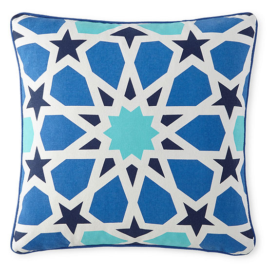 "Happy Chic by Jonathan Adler Zoe 16"" Stained Glass Square Decorative Pillow"