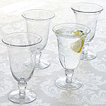 Iris 4-pc. Footed Glass Set