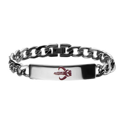 Star Wars® Mens Stainless Steel Mandalorian Symbol ID Bracelet