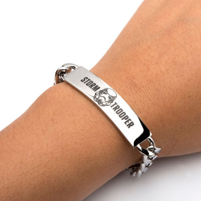 Star Wars® Mens Stainless Steel Stormtrooper ID Bracelet