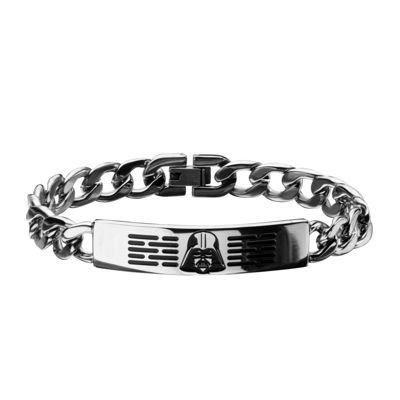 Star Wars® Mens Stainless Steel Darth Vader ID Bracelet