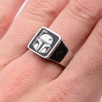 Star Wars® Stainless Steel Boba Fett Helmet Ring