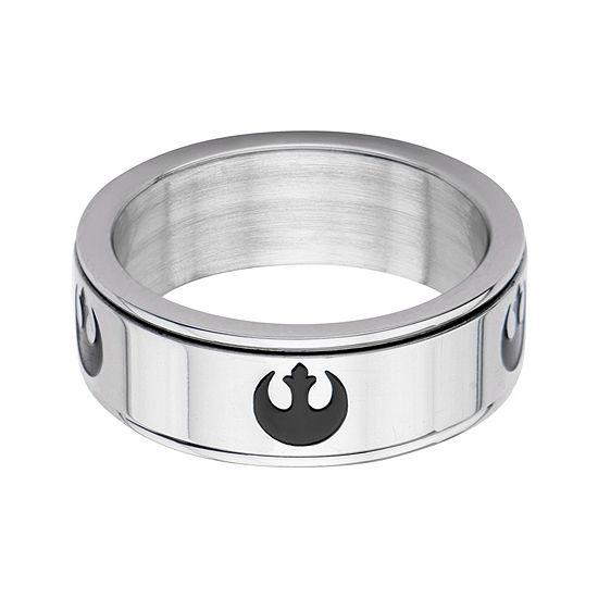 Star Wars® Stainless Steel Rebel Alliance Symbol Spinner Ring