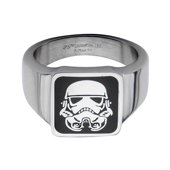 Star Wars® Stainless Steel Stormtrooper Square Top Ring