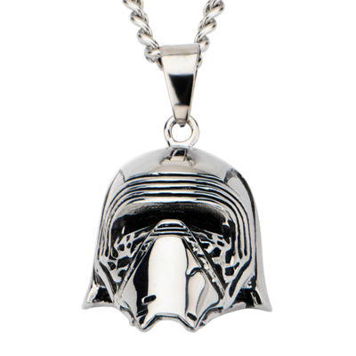 Star Wars® Stainless Steel Episode VII Kylo Ren 3D Pendant Necklace