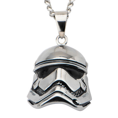 Star Wars® Stainless Steel Episode VII Stormtrooper 3D Pendant Necklace