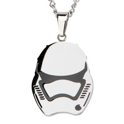 Star Wars® Stainless Steel Episode VII Stormtrooper Pendant Necklace