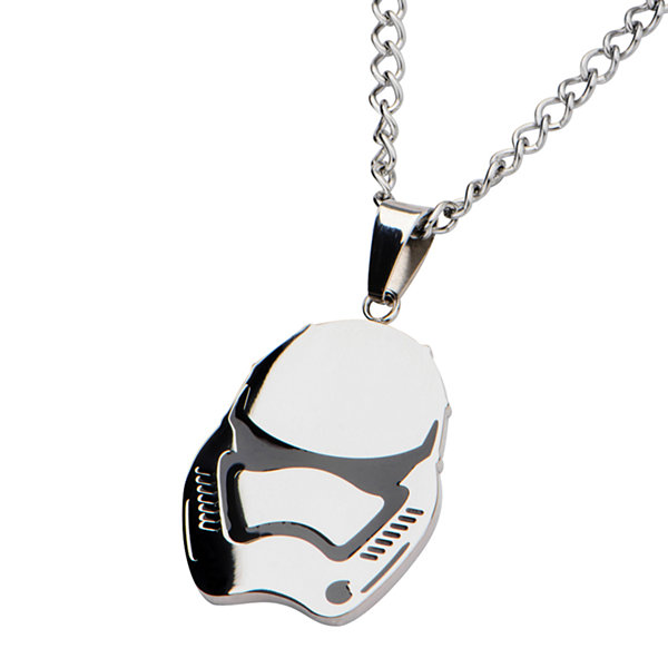 Star Wars® Stainless Steel Episode VII Stormtrooper Pendant Necklace
