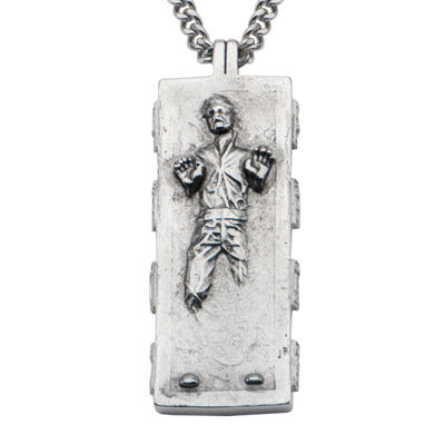Star Wars® Stainless Steel Han Solo Pendant Necklace